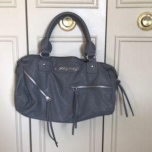 Grey pleather purse